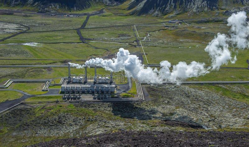 Central elétrica geotérmica de Nesjavellir, Islândia foto de stock royalty free