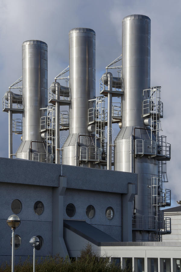 Central elétrica geotérmica de Svartsengi - Islândia fotografia de stock