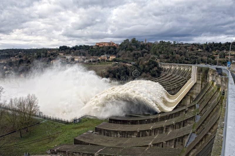 Central elétrica hidroelétrico imagem de stock