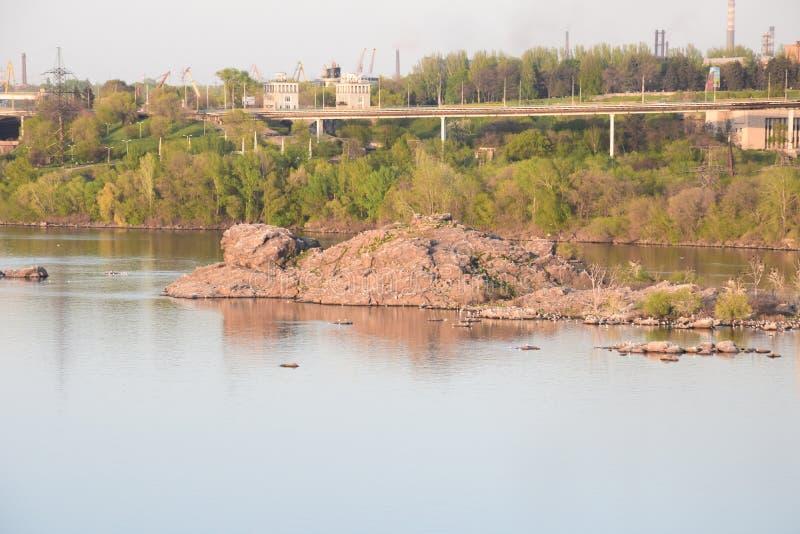 Central elétrica hidroelétrico de Zaporozhye imagens de stock royalty free