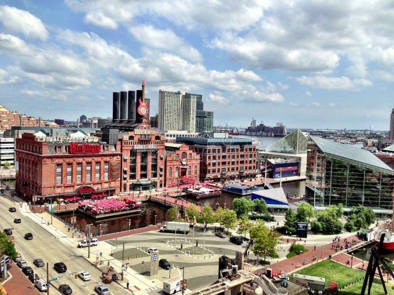 Central elétrica interno do porto de Baltimore fotos de stock