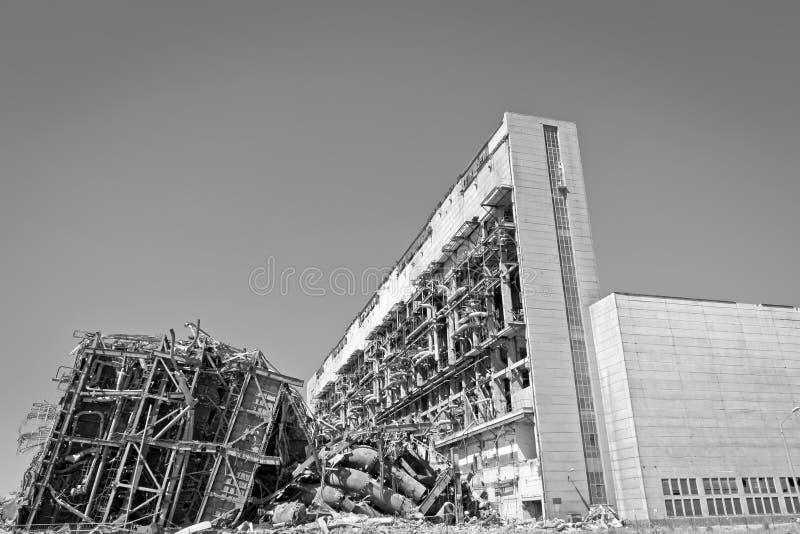 Central elétrica velha do combustível fóssil imagem de stock
