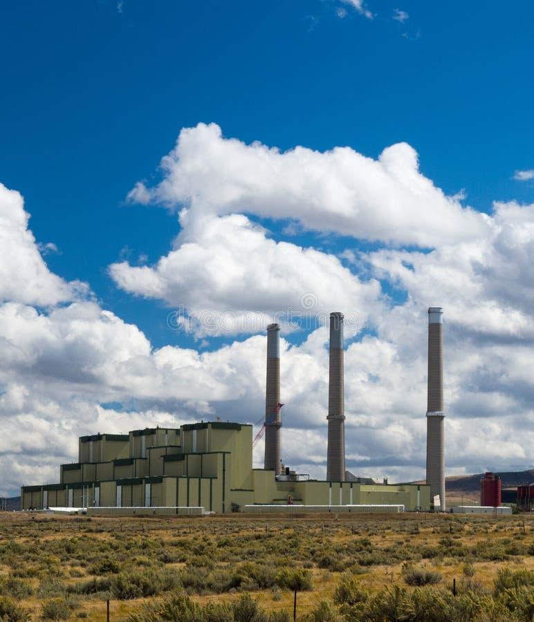 Central energética despedida carvão foto de stock