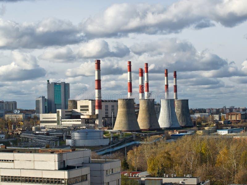 Central energética do aquecimento central imagem de stock