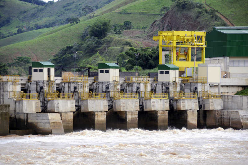 Central energética elétrica de Hidro fotos de stock