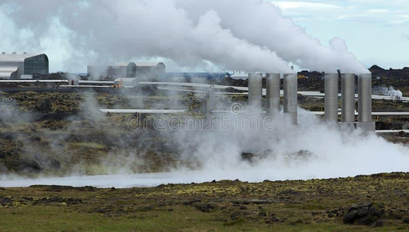 Central energética Geothermal fotos de stock royalty free
