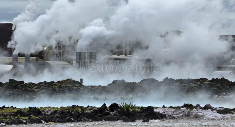 Central energética Geothermal imagens de stock royalty free