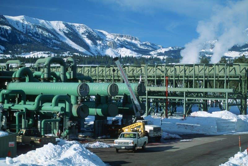 Central energética Geothermal, CA foto de stock royalty free