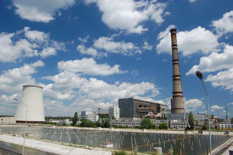 Central energética. Kiev, Ucrânia imagens de stock