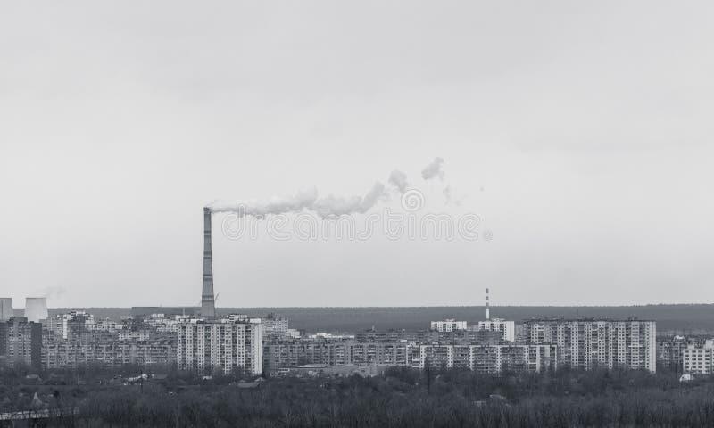 Download Central Energética Na área Residencial Foto de Stock - Imagem de planta, edifício: 26513528