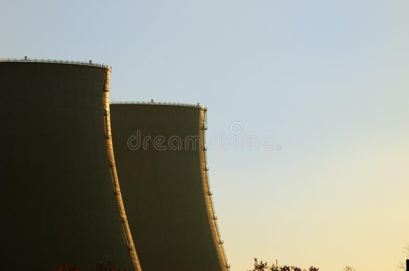 CENTRAL ENERGÉTICA NUCLEAR fotografia de stock