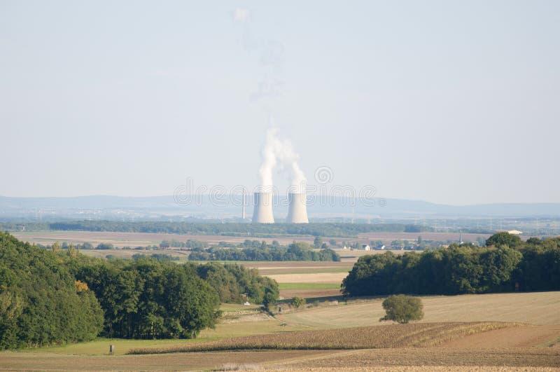 Central energética nuclear em Alemanha foto de stock