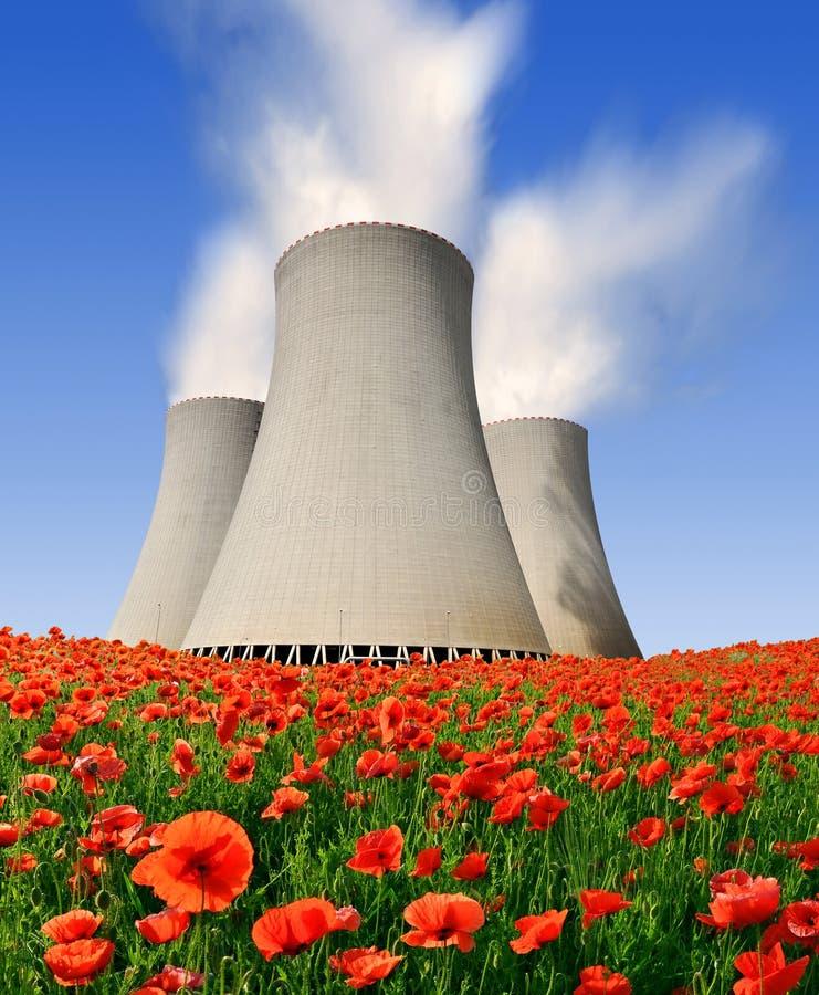 Central energética nuclear Temelin na república checa fotografia de stock royalty free