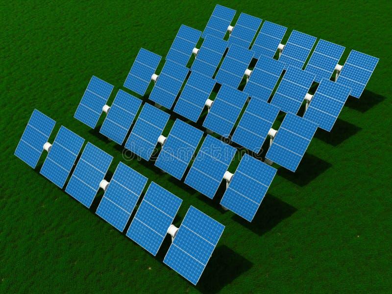 Central energética solar ilustração do vetor