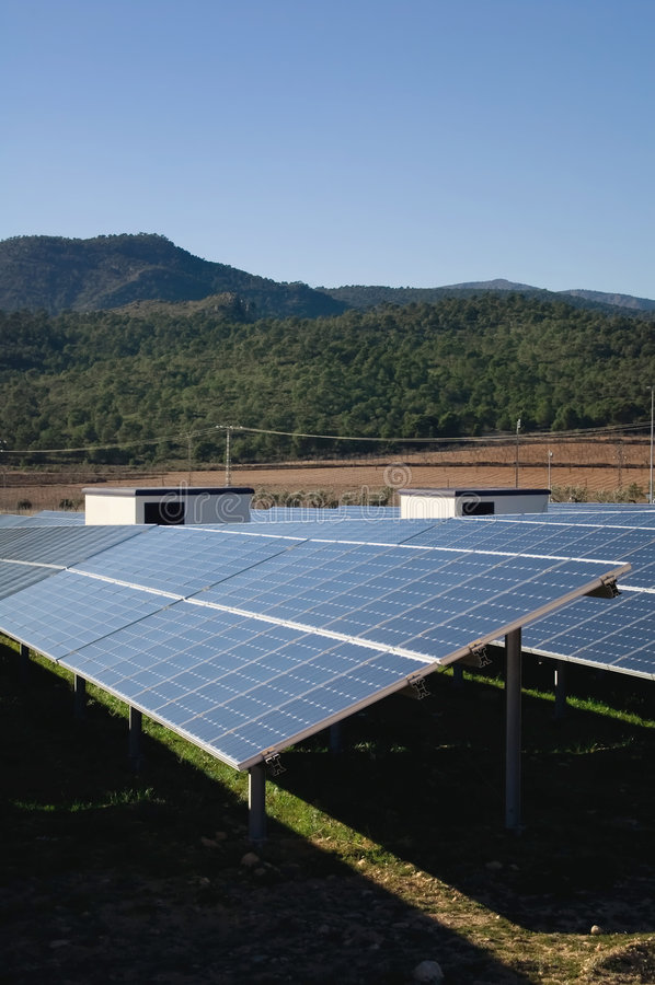 Central energética solar imagem de stock royalty free