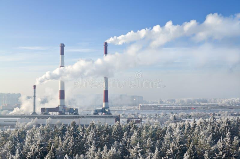 Central energética térmica fotos de stock