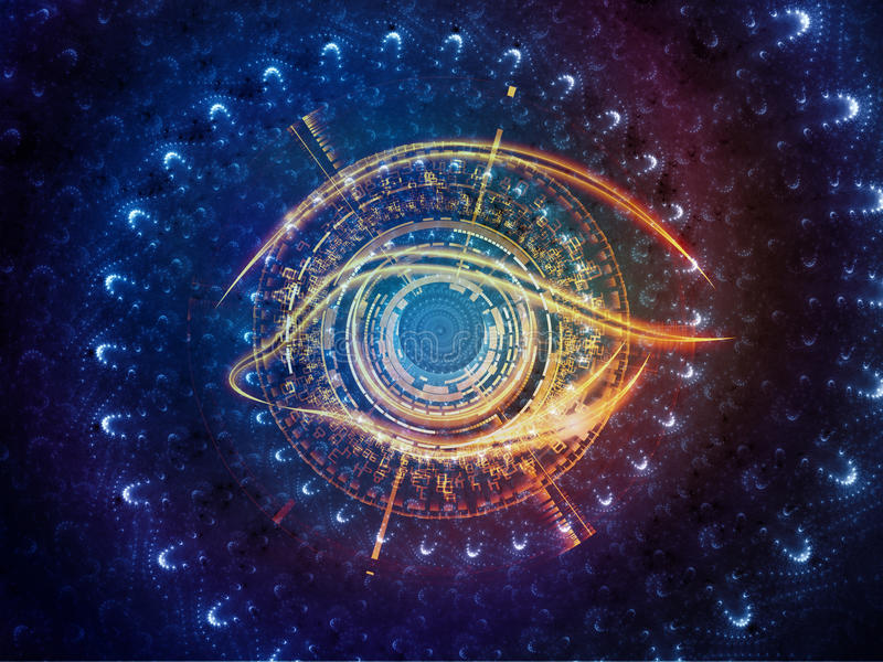 Central Eye vector illustration