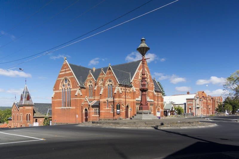 Central förena kyrka, Ballarat, Australien arkivfoton