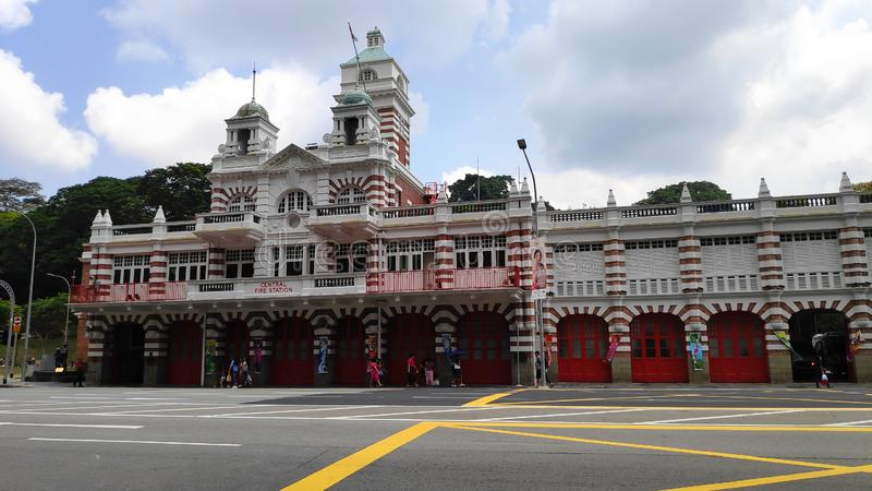 Central Fire Station with unique English designs in Singapore royalty free stock photo