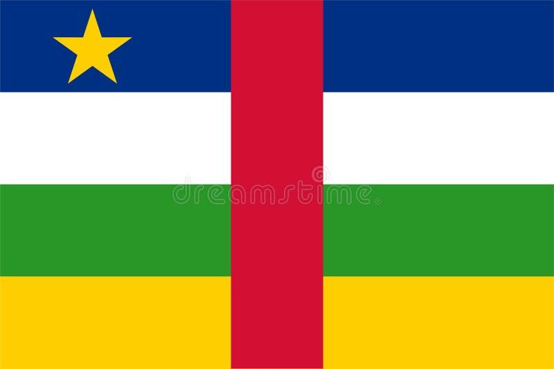 central flaga republiki afrykańskiego ilustracji