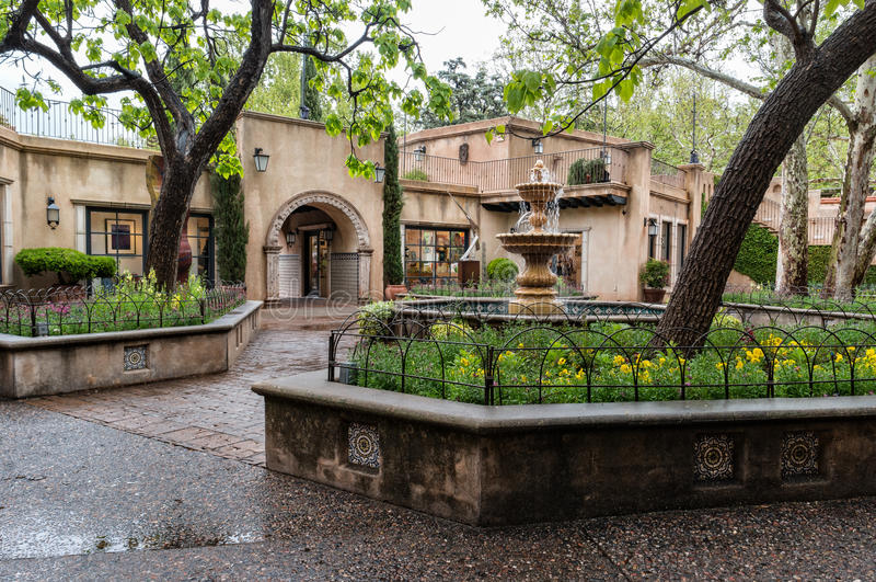 Central fountain at Tlaquepaque in Sedona, Arizona royalty free stock images