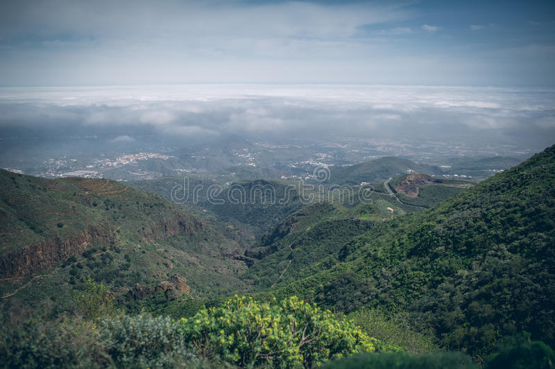 Central Gran Canaria, view from the top of mountain stock photos