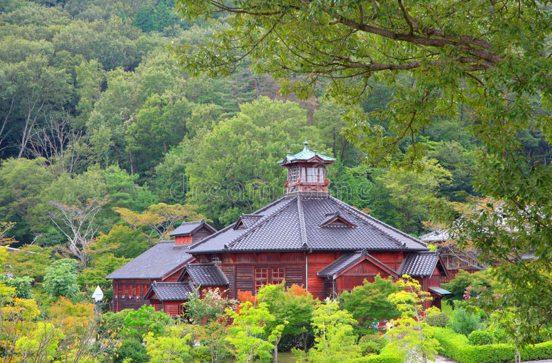 Central Guard Station in Meiji mura. Meiji-mura open air architectural museum preserves historic buildings in Japan royalty free stock images