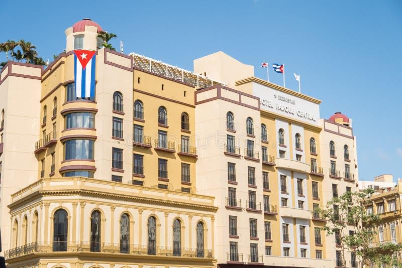 Central Havana Cuba de Parque del Central Park del hotel imágenes de archivo libres de regalías
