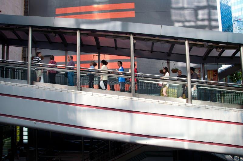 Mid-levels escalator, Hong Kong royalty free stock images