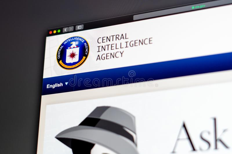 Central Intelligence Agency website homepage. Close up of CIA logo. Miami / USA - 05.11.2019: Central Intelligence Agency website homepage. Close up of CIA logo royalty free stock images