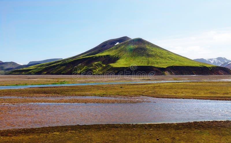 Central Island för Landmannalaugar Fjallabak naturreserv royaltyfri foto