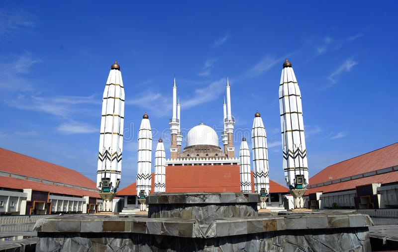 Central Java Grand Mosque. Is a mosque located in Semarang, Central Java province, Indonesia. This mosque was built since 2001 until it was completed in its royalty free stock photos
