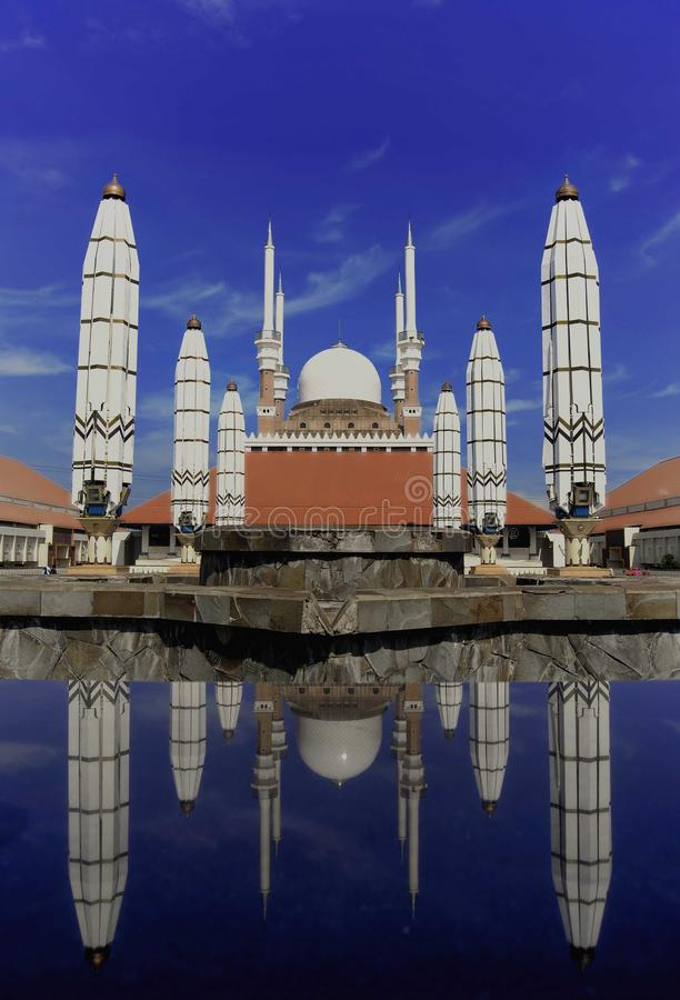 Central Java Grand Mosque. Is a mosque located in Semarang, Central Java province, Indonesia. This mosque was built since 2001 until it was completed in its stock photo
