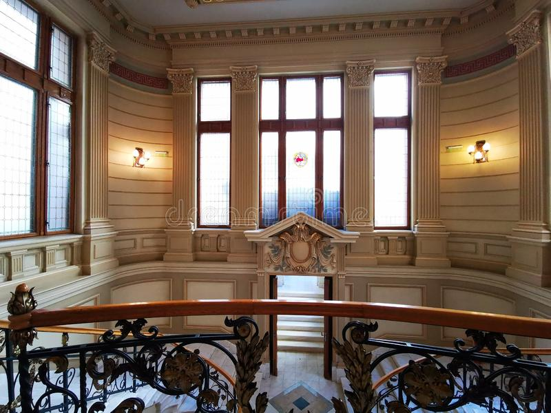 Central Library Carol I in Bucharest, Romania indoor royalty free stock images