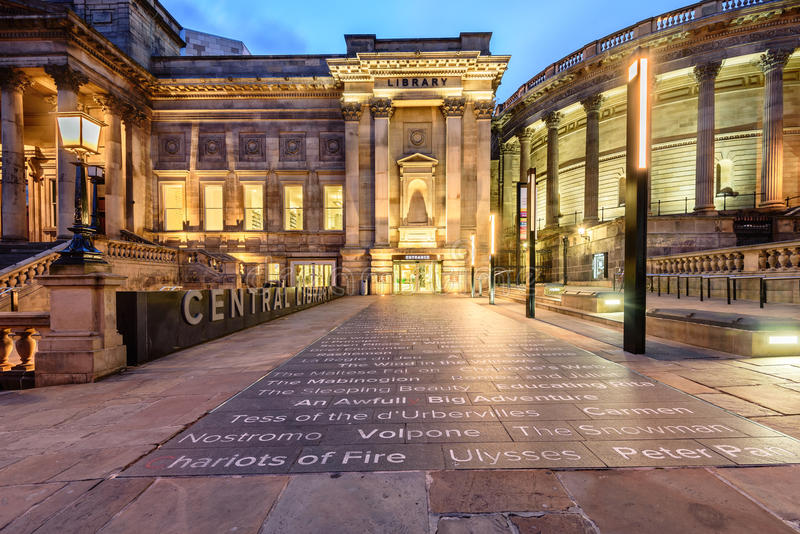 Central Library Liverpool stock images