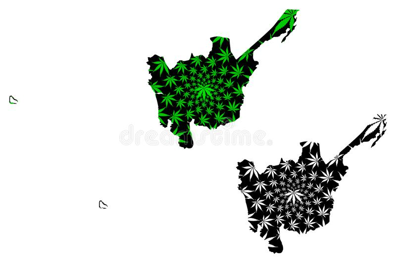 Central Luzon Regions and provinces of the Philippines, Republic of the Philippines map is designed cannabis leaf green and. Black, Region III map made of stock illustration