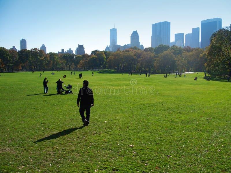 central manhattan ny park york arkivbilder