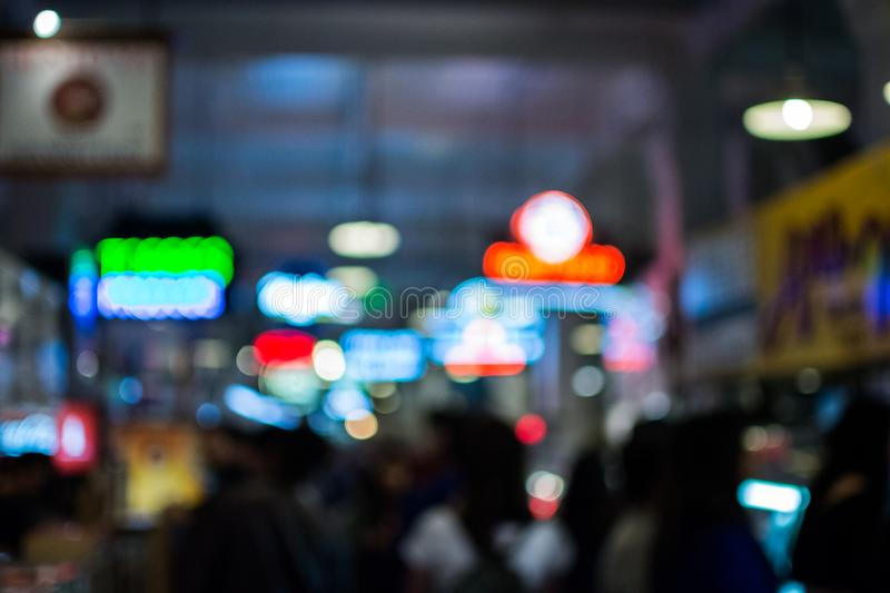 Downtown LA nightlife royalty free stock images