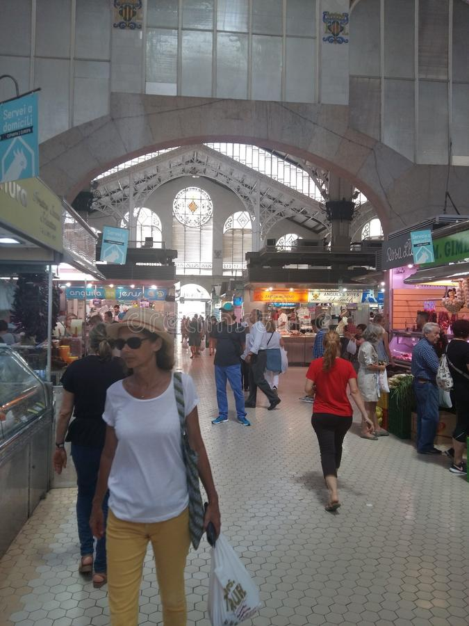 Central market valencia shopping food bying stock images