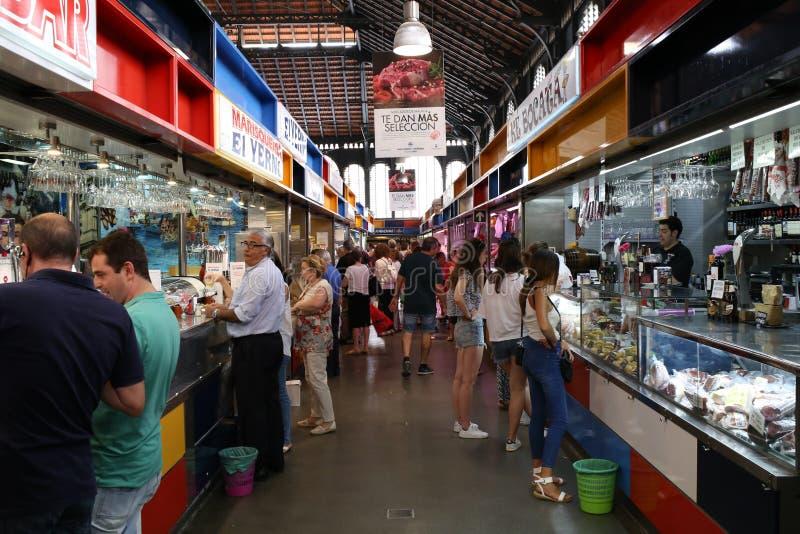 Central marknad av Malaga Atarazanas arkivbild