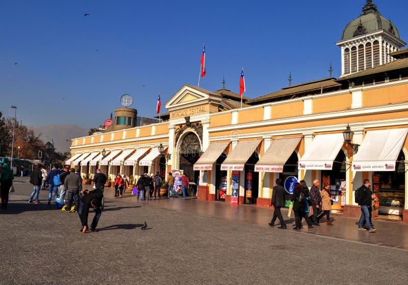 Central marknad i Santiago de Chile royaltyfri foto