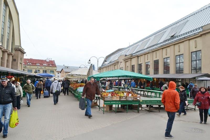 central marknad riga arkivbild