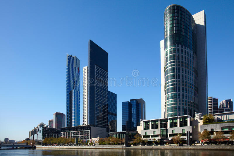 Central of Melbourne city stock photography