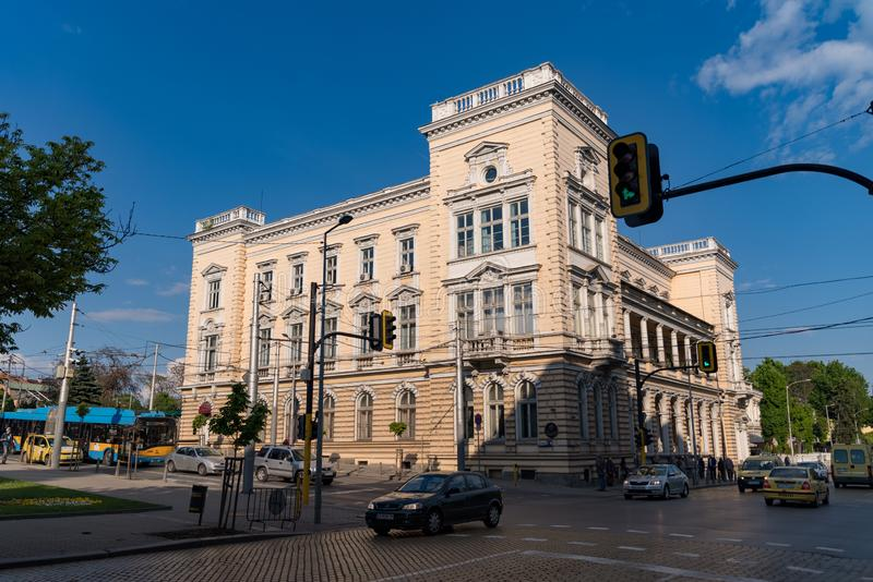 Central Military Club building, Sofia, Bulgaria royalty free stock images