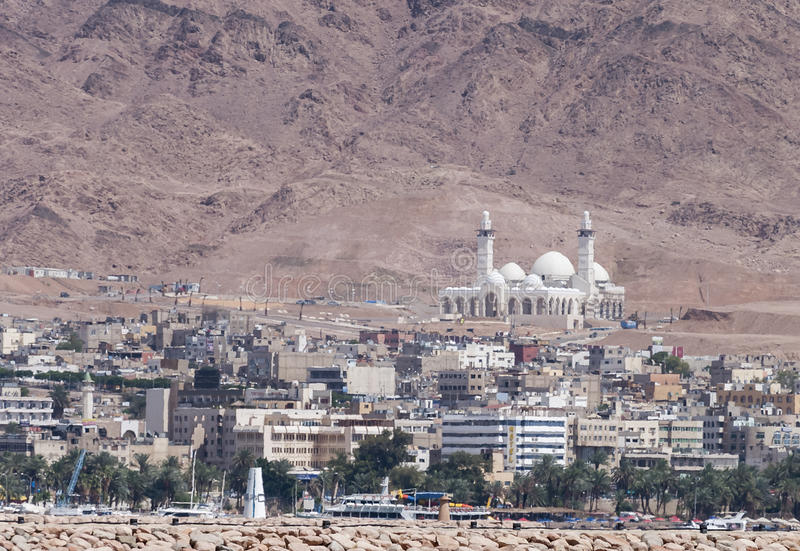 The central mosque in Aqaba city, Jordan, Middle East stock image