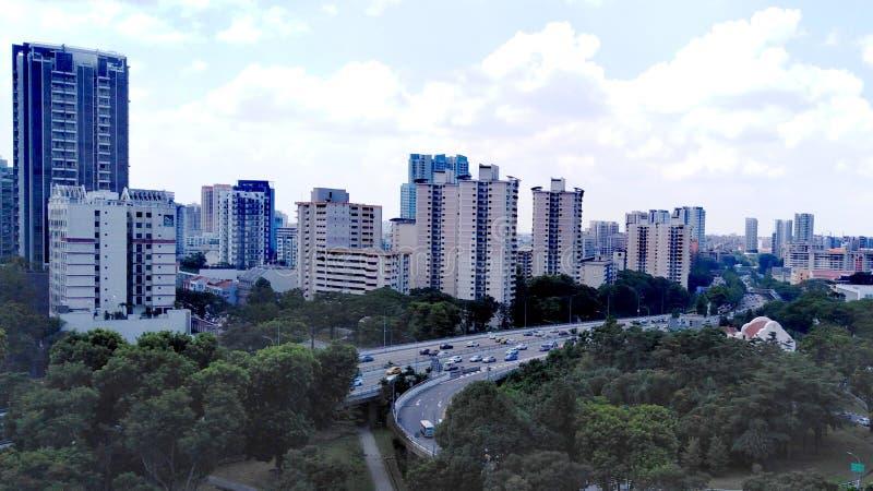 Central motorväg i Singapore royaltyfri fotografi