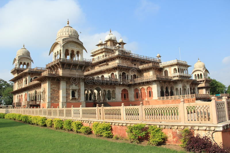 Central museum, jaipur.India. Albert hall - central museum of pink city jaipur, india was built in 1887. the building itself is world famous for its indo royalty free stock images