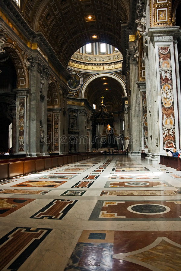 Central nave. Of St. Peter cathedral royalty free stock photography
