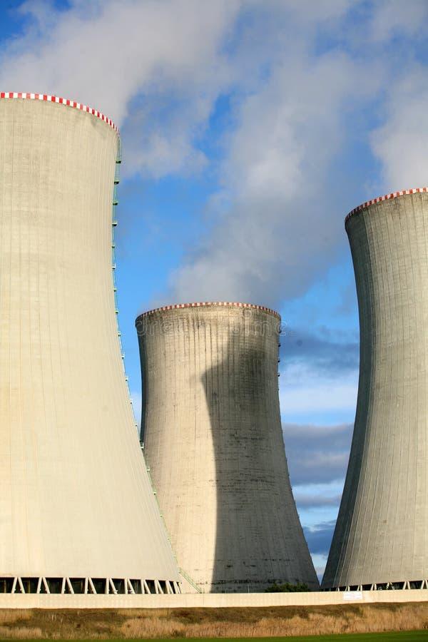 Central nuclear imagem de stock royalty free