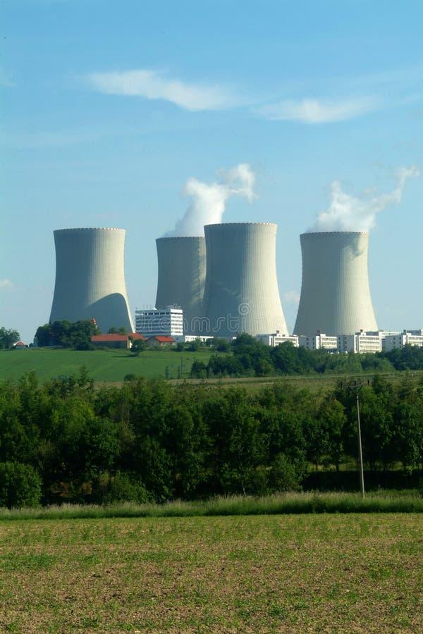 Central nuclear fotografia de stock